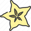 berry, carambola, food, fruit, healthy, vegetarian icon