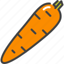 carrot, food, healthy, vegetable, vegetarian icon