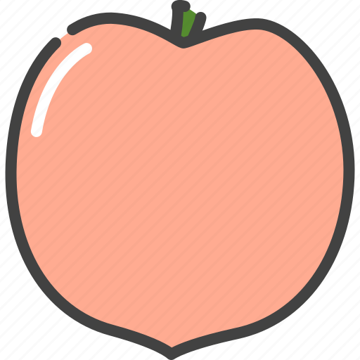 berry, food, fruit, healthy, peach, vegetarian icon