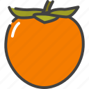 berry, food, fruit, healthy, persimmon, vegetarian icon