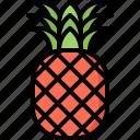 food, fruit, fruits, pineapple, shop, supermarket
