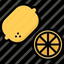 food, fruit, fruits, lemon, lime, shop, supermarket icon