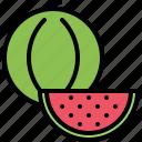 food, fruit, fruits, shop, supermarket, watermelon icon