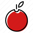 apple, basic license, color, food, fruit icon