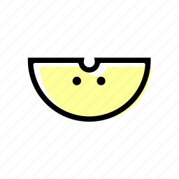 apple, basic license, color, food, fruit icon