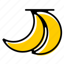 banana, basic license, color, food, fruit icon