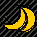 banana, basic license, color, food, fruit