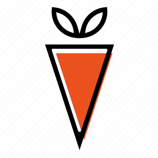 basic license, carrot, color, food, vegetable icon