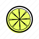 basic license, color, food, fruit, lemon icon