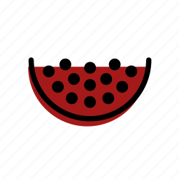 basic license, color, food, fruit, pomegranate icon