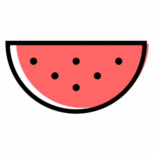 basic license, color, food, fruit, watermelon icon