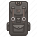 3, backpack, if icon