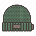 green, hat, if icon