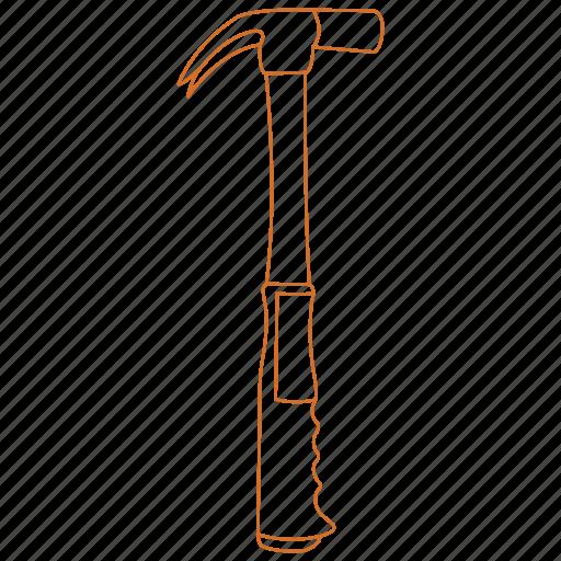 build, construction, hammer, nail, swing, tool, toolbelt icon
