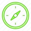 adventure, camp, compass, direction, navigation icon