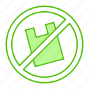 bag, forbidden, plastic, prohibited, trash icon