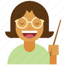 glasses, instructor, lecture, person, professor, speech, teacher icon