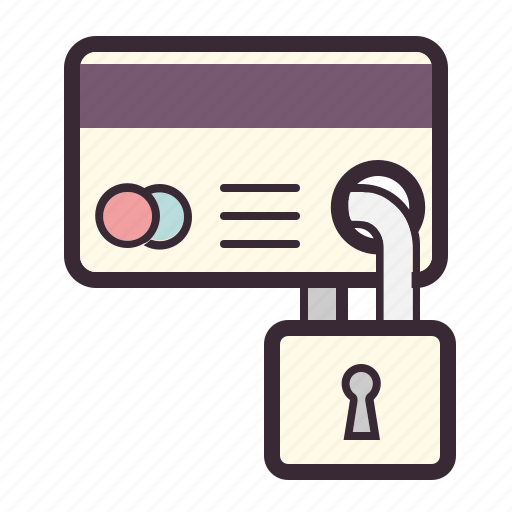 card, credit, lock, payment, protection, safe, security icon