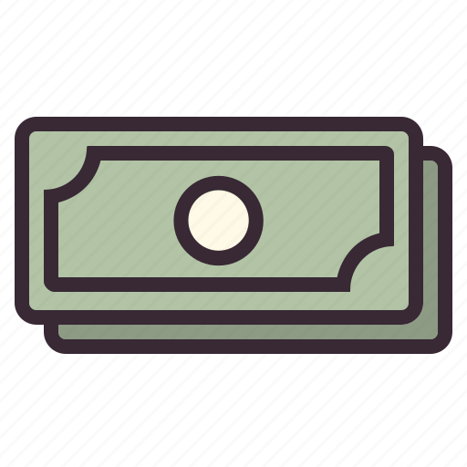 banking, banknotes, cash, finance, financial, money, stack icon