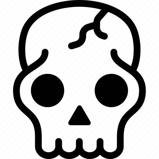 bone, coconut shell, cranium, death, head, skeleton, skull icon