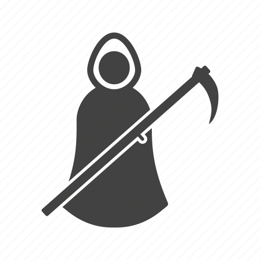 dark, dead, death, ghost, hooded, scary icon