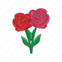 cartoon, death, flowers, grave, rose, sign, sorrow icon