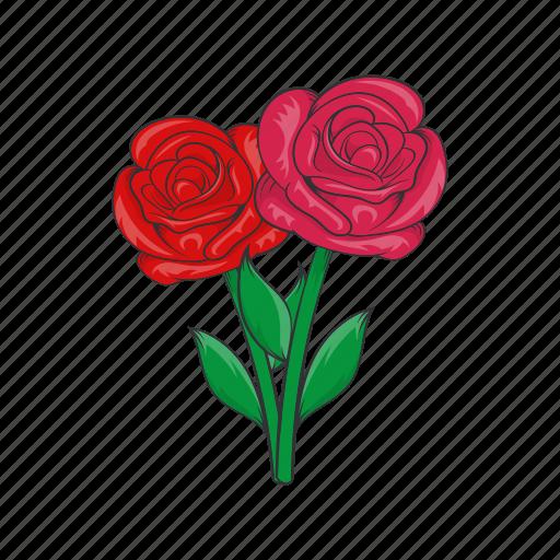 cartoon, death, flowers, grave, rose, sign, sorrow icon