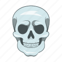cartoon, danger, dead, death, sign, skeleton, skull icon