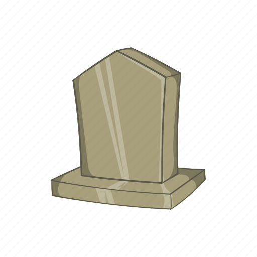 cartoon, death, grave, headstone, monument, sepulchral, sign icon