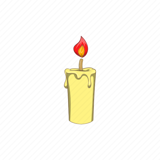 candle, candlelight, cartoon, fire, flame, religion, sign icon