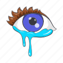 cartoon, cry, crying, emotion, eyes, sad, sign icon