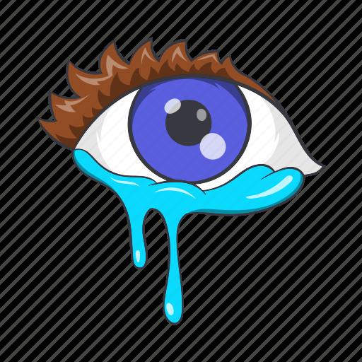 cartoon, cry, crying, emotion, eyes, sad, sign icon