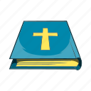 bible, book, cartoon, education, library, paper, sign icon