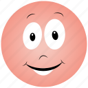 cartoon face, optimistic face icon