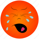 cartoon face, crying face icon