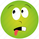 awake face, cartoon face icon