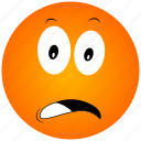 annoyed face, cartoon face icon