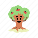 apples, arms, happy, harvest, hold, summer, tree icon