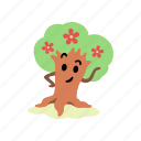 blossom, cute, eyebrow, flowers, pose, spring, tree icon
