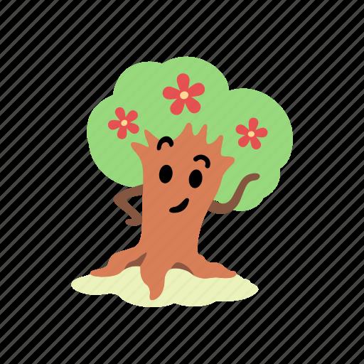 blossom, cute, eyebrow, flowers, pose, spring, tree icon
