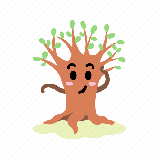 blush, character, cute, new leaves, shy, spring, tree icon