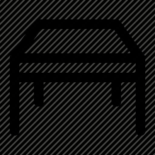 desk, funiture, interior, nontext, table icon