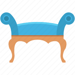 furniture, luxury furniture, recliner, settee, sofa icon