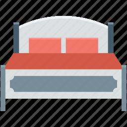 bed, bedroom, bedroom furniture, furniture, sleep icon