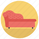 couch, divan sofa, furniture, settee, sofa icon