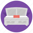 bed, bedroom, relax, room, sleep icon