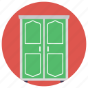 closed door, door, entrance, exit, gate icon