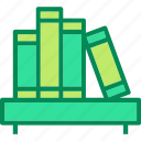 books, bookshelf, library icon