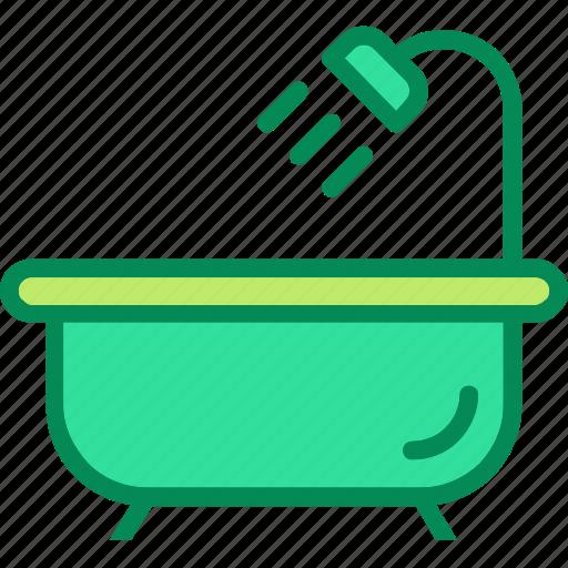 bathroom, bathtub, shower icon