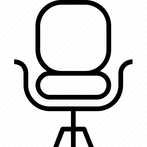 chair, office chair, seat icon